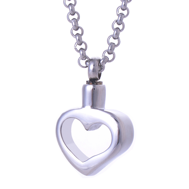 Heart cremation urn pendant ashes necklace pendant keepsake memorial heart cremation urn pendant ashes necklace pendant keepsake memorial jewelry with free chain aloadofball Choice Image