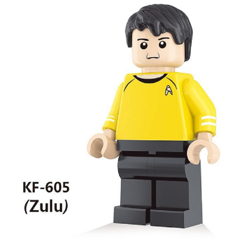 Single Sale Building Blocks Super Heroes Star Trek Captain Kirk Scotty Khan Eoward Tayburn Zulu education gifts Toys KF605 single sale series 10 71018 rocket boy super heroes star wars assemble building blocks minifig kid gifts toys