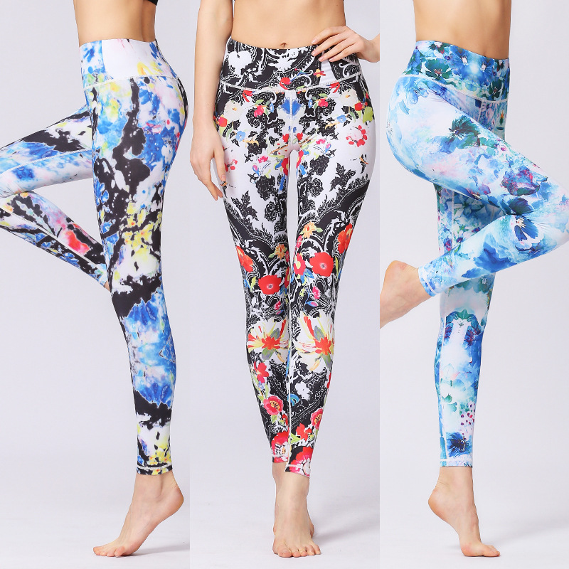 dd0d8af33ed7d Γυμναστήριο & body-building Women Slim Print Yoga Pants Quick Dry Sport  Leggings Fitness Tights Jogging Running Workout Sexy Skinny Gym High  Elastic Bottoms