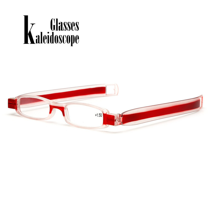 360 Degree New Folding Reading Glasses Optics HD Resin Rotating Eyeglasses Unisex Reading Eyewears