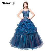 Hot Sale Classic Lace Up Sleeveless Quinceanera Dresses 2017 Beautiful Purple Spaghetti Quinceanera Gowns vestidos de novia