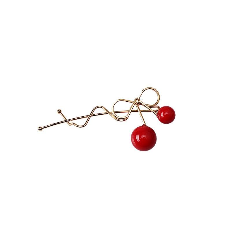 М мисм красный шарик волна лук Hairgrip милые заколки Женские аксессуары для волос Украшения зажим для волос для Для женщин Обувь для девочек
