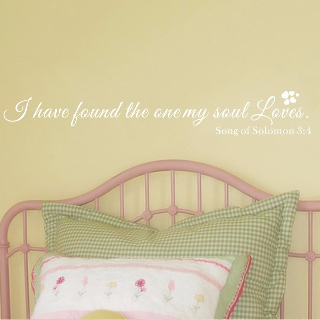 I Have Found The One My Soul Loves Romantic Vinyl Quotes Bedroom