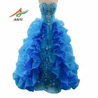 ANTI Puffy Princess Popular Debutante Gown Royal Blue Quinceanera Dresses Cheap Quinceanera Gowns Sweet 16 Dresses For 15 Years