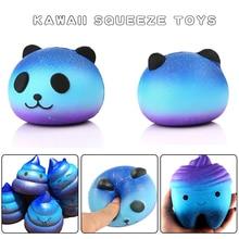 Squeeze Squishys Galaxy aranyos 10 cm Panda krém Illatos Squishy Vicces Gadgets Anti Stress Újdonság Antistress játékok Ajándék mocskos játékok