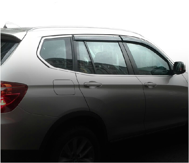 RKAC 4pcs Door Sun Window Visor Deflectors Rain Shield Sun Guard For BMW X5 E70 F15 2012 2013 2014 2015 Awnings & Shelters jinke 4pcs blade side windows deflectors door sun visor shield for hyundai tucson 2013