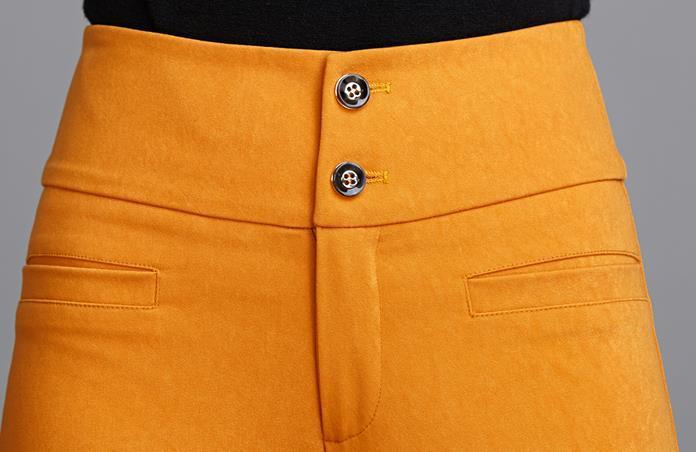 Pour Haute Large Orange Élégant Printemps Automne 3xl Nouveau Jambe Femme Mode Pantalon Xxl Taille 2018 Pantalon Casual qaAwHxw4I