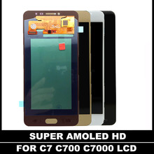 Replacement Phone LCD For Samsung Galaxy C7 C7000 SM-C7000 Super AMOLED Display Touch Screen Digitizer Assembly White/Black/Gold(China)