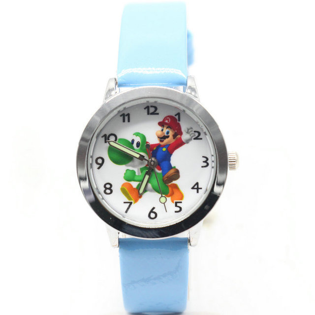2018 super mario watch Quartz Kids Sports fashion cartoon Watch Wristwatch Boy S