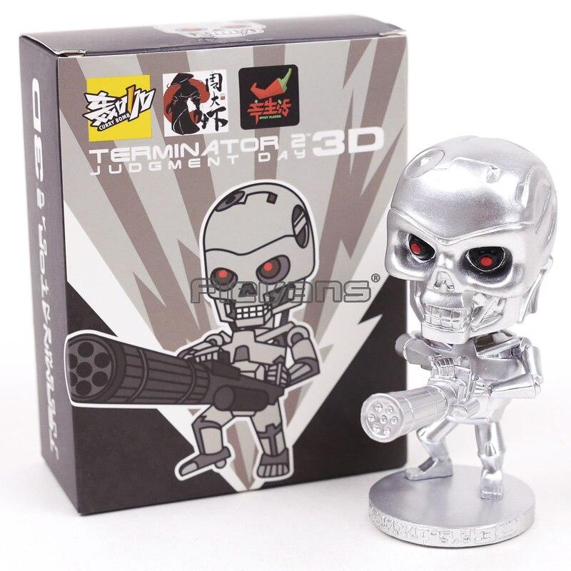 Figurine Terminator 2 Figure Judgment Day 3D Endoskeleton Bobble Head skull Toy