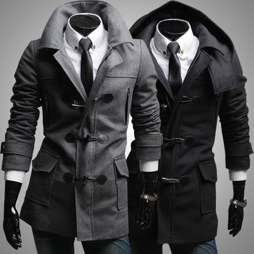 Free Shipping Young Men Wollen Coats New Design Men's Trench Coats ...