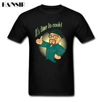 남성 T 셔츠 디지털 직접 인쇄 100% 면 짧은 소매 티셔츠 남자 시간 요리 나쁜 하이젠 베르