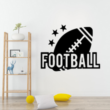 Hot Sale American Football Removable Art Vinyl Wall Stickers Waterproof Decals Decoration Accessories Murals