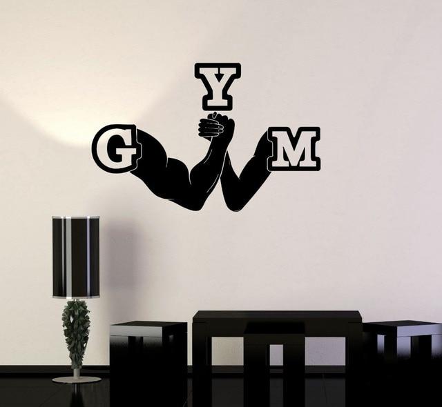 Vinyle Decal Gym Bras de fer Bras Remise En Forme de Sport Décor De ...