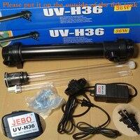 JEBO 110V 36W UV Sterilizer Lamp Light Ultraviolet Filter Clarifier Water Cleaner For Coral Koi Fish Pond, Aquarium UV Lamp
