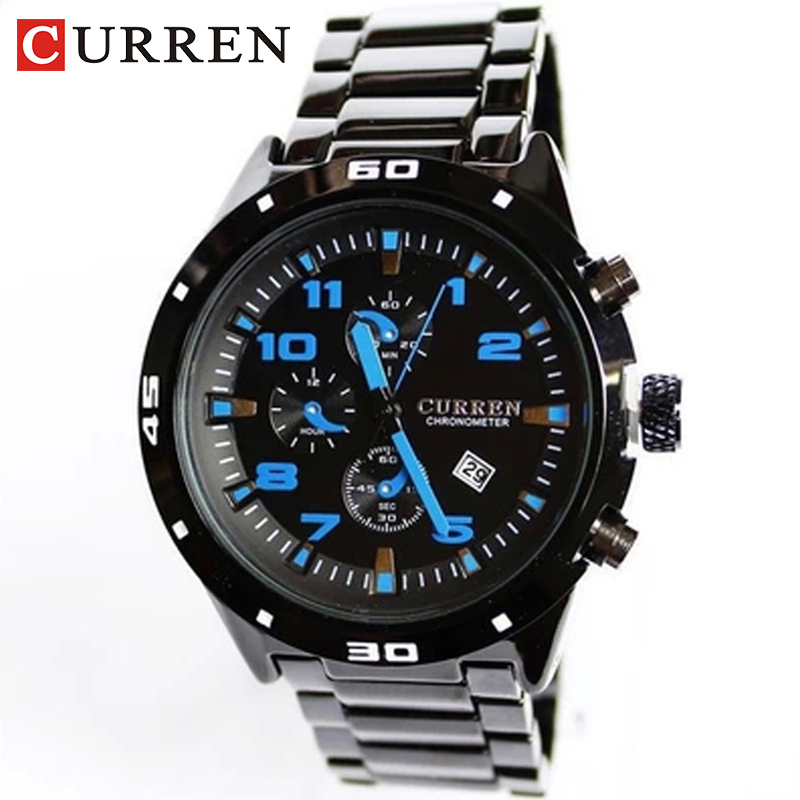 CURREN Men's Watches Fashion&Casual Full Sports Watches Relogio Masculino Men's Business relojes Quartz watch 8021