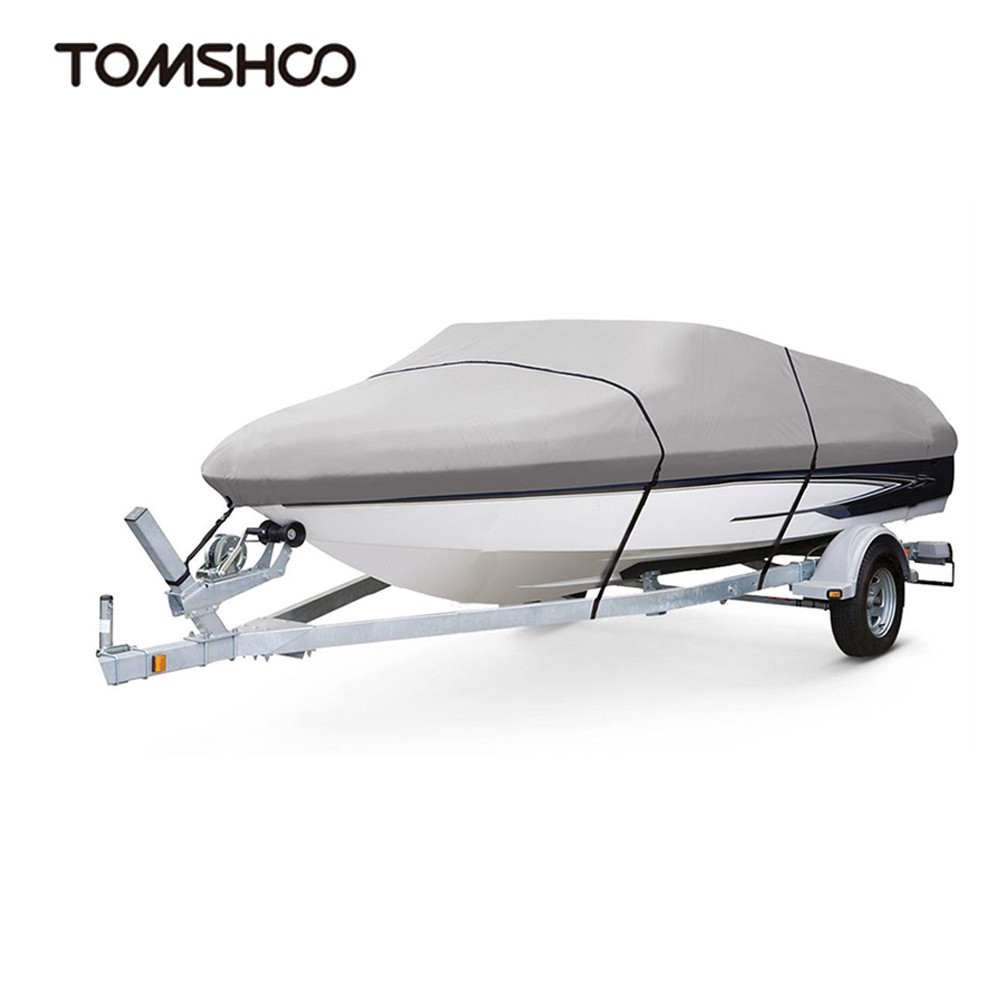 Polyester Boat PVC Cover Boat Accessories Marine Taffeta Heavy Duty Trailerable 11 22ft Classic Waterproof UV