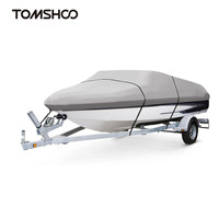Polyester Boat PVC Cover Boat Accessories Marine Taffeta Heavy Duty Trailerable,11 22ft,Classic Waterproof, UV Anti,Marine