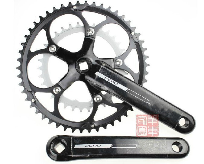 High quality 2 slices highway crankset folding bike crankset you're worth it Bicycle Crank & Chainwheel prowheel chariot 53t folding bike road bike crankset 170 crank bicycle chainwheel 170l 170mm for sp8 8s 9s speed