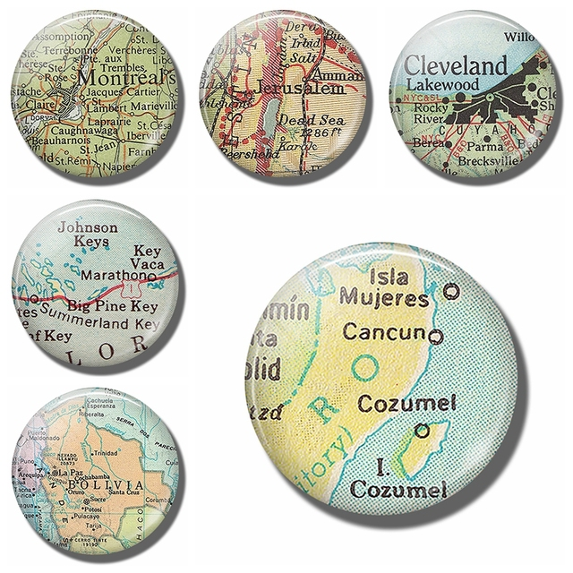 cozumel map 30 mm fridge magnet cancun mexico travel map glass dome magnetic refrigerator stickers note