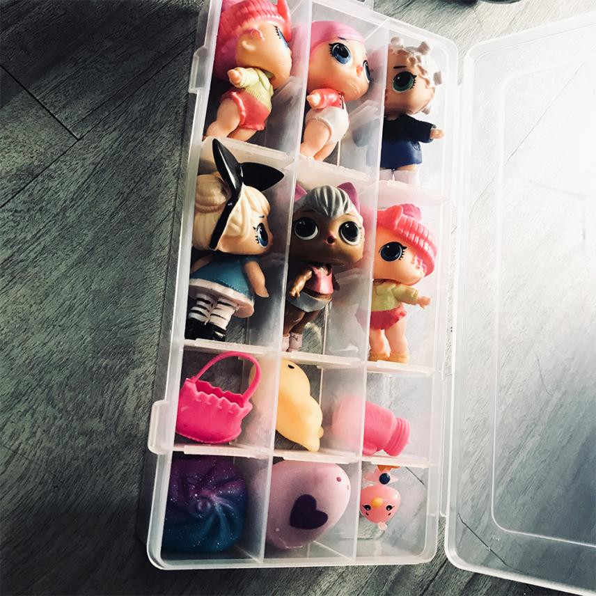 MUQGEW 18 Ngăn Lưu Trữ Đồ Chơi Toy Storage Hộp Đựng Phụ Kiện Cho LOL Bất Ngờ Búp Bê Hành Động Hình Đồ Chơi Trẻ Em