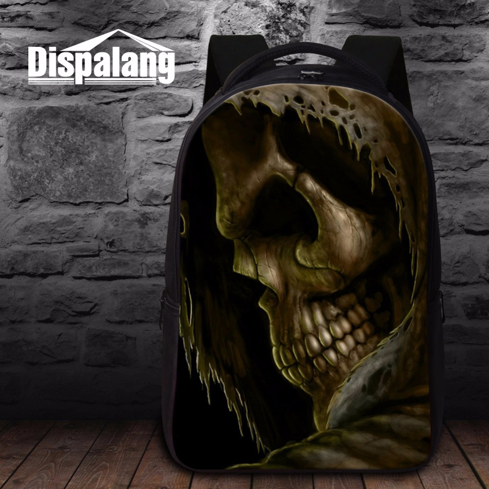 ФОТО Fashion School Bags for Teenagers Cool Skull backpacks with Laptop Compartment Best Bookbags for Boys Girls Coolest Back Pack