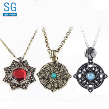The Elder Scrolls Amulets and mascot of Mara Arkay Morrowind jordan symbol Pendants Necklaces Dark Brotherhood Dinosaur Triangle image