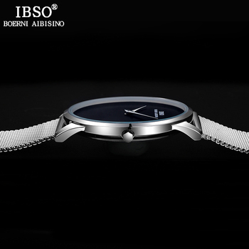 Reloj De Malla Para Hombre | Reloj Para Hombre Ultrafino IBSO, Reloj De Cuarzo Deportivo Con Correa De Malla De Acero Inoxidable De Primera Marca, Reloj De Estilo Simple Masculino