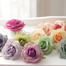 Artificial oil painting rose head silk flowers wedding decration flores fake flowers for home mariage party garden hotel ART DIY
