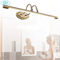 L48cm L62cm 6W 10W antique bronze vanity lights LED front mirror light bathroom cabinet dressing table spiegel verlichting luz