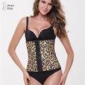 Latex Waist Corset Body Shapers Ann Chery Corselet Waist Cincher Postpartum Plus Size Slimming Shapewear Leopard Underbust Fajas