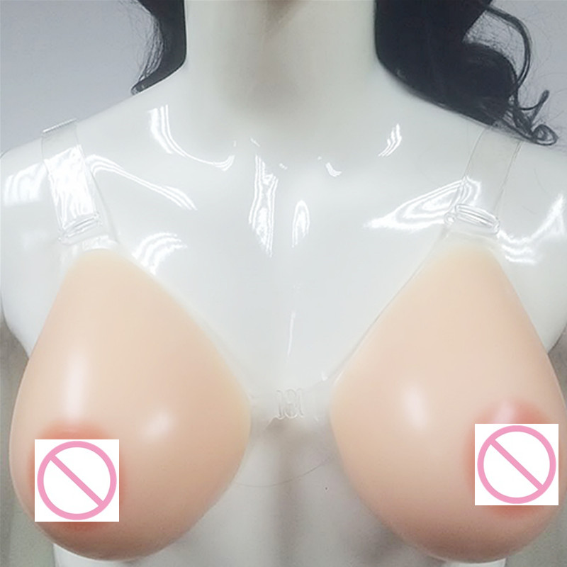 1800g/Pair 90/40C 95/42B 95/42C 95/42D For Transvestism Chest Increase Boobs Thickening Realistic Silicone Breast Form Device 95