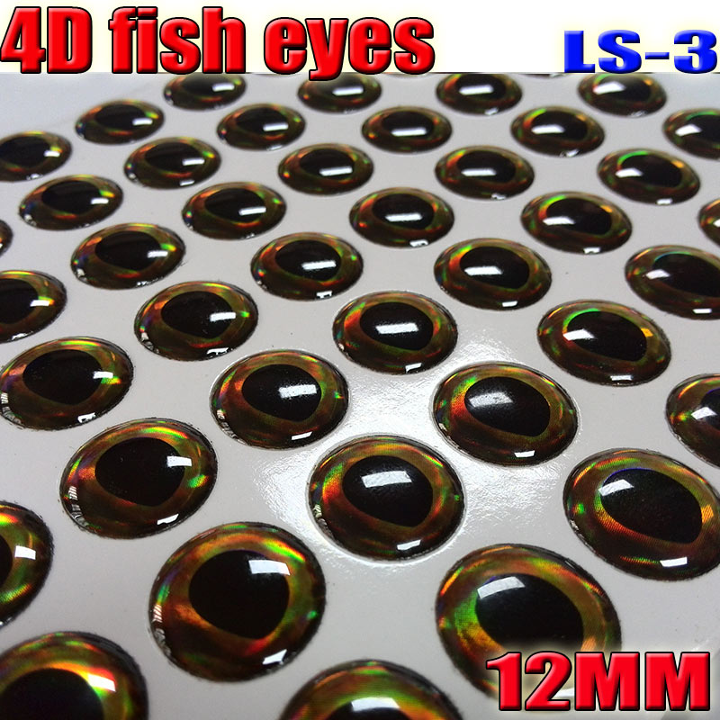 2018 NEW 4D Fishing Lure Eyes More Color Fish Eyes Big Size: 12MM 4papers Color Total 252pcs/lot
