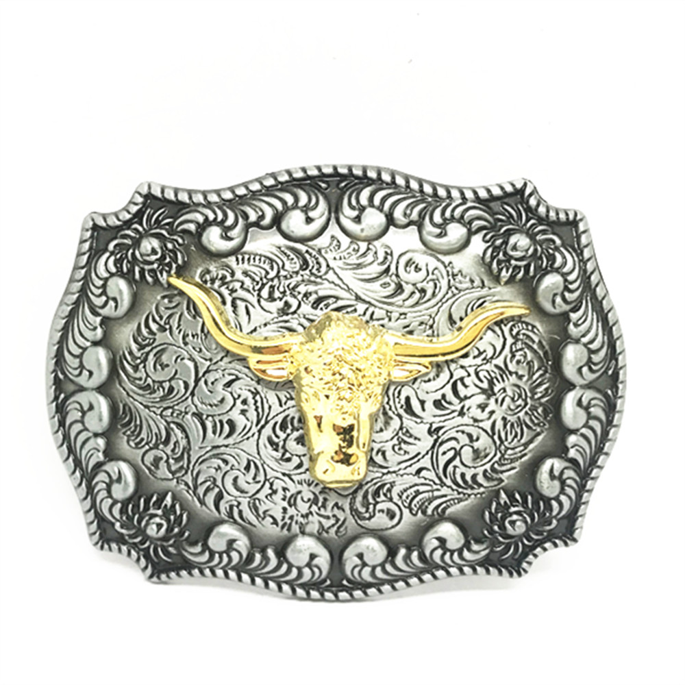 INCH DRESS Skull Cross Zinc Alloy Belt Buckle Dripping Oil Fashion Accessories Button For A 4.0 Belt.