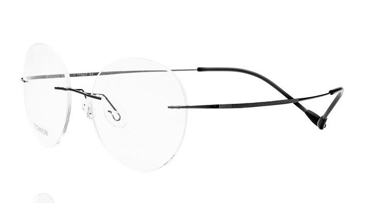 Eyesilove Ultra light Women customized prescription glasses Titanium Alloy Rimless