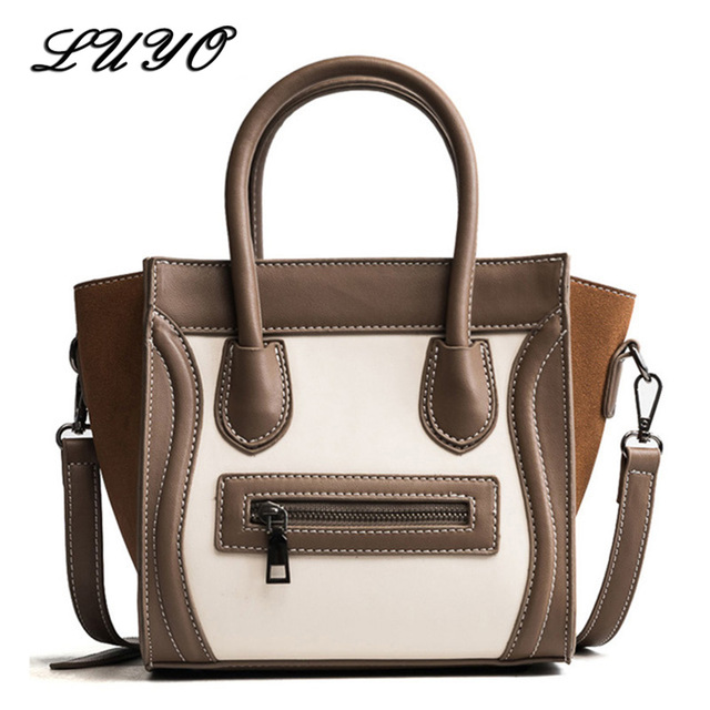 a8bbaa1ee196 2018 Trapeze Smiley Tote Pu Leather Luxury Handbags Women Shoulder Bags  Designer Famous Brand Crossbody Bags
