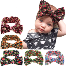 2016 Cute Flowers bow rabbit ears headband baby hair band children headdress for infant girl baby accessories for children