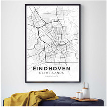 Painting Giclee Art Print Eindhoven Map Canvas Poster Nail Art Decorations Grinch Wall Painting Voltron Legendary Defender(China)