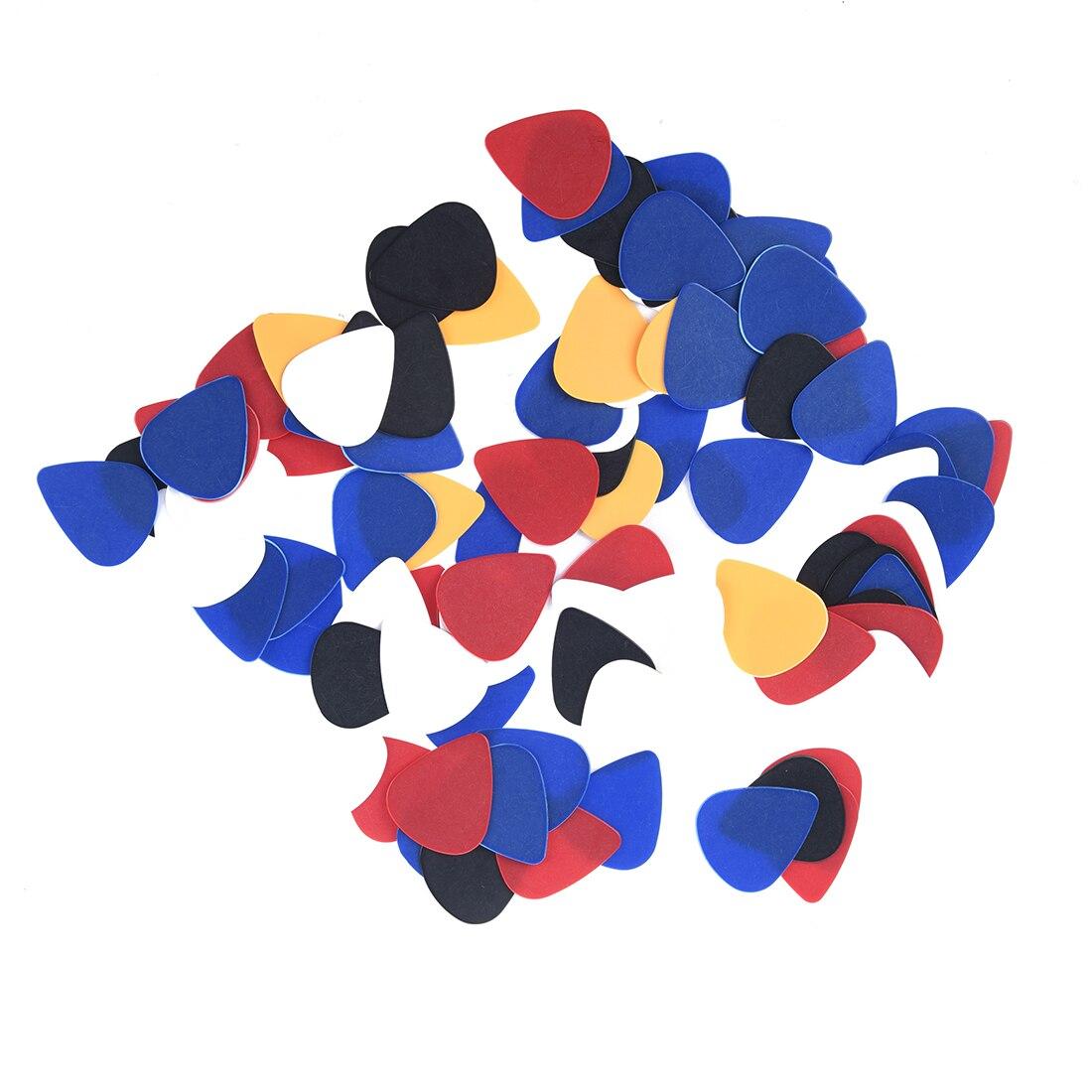 100pcs Plastik Plektren Plektren Ca Assorted zufaellige Farbe