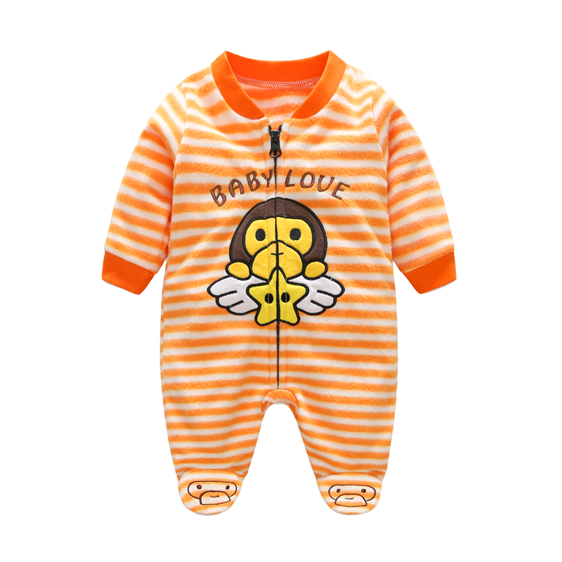 Autumn Baby Rompers Christmas Baby Boy Clothes Newborn Clothing Polar Fleece Baby Girl Clothes Roupas Bebe Infant Baby Jumpsuits cotton baby rompers autumn baby girl clothing cartoon baby boy clothes newborn clothes roupas bebe infant baby jumpsuits