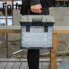 Форфар большой 5 слой Рыбалка коробка для хранения приманки приманки Крючки снасти инструмент контейнер с ручкой пластиковый Чехол Организатор портативный Открытый