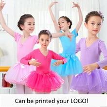 c8d1c75620 Frete grátis dançarinos exercícios de mangas compridas das meninas das  Crianças ou de manga curta de balé collant com saia taman.