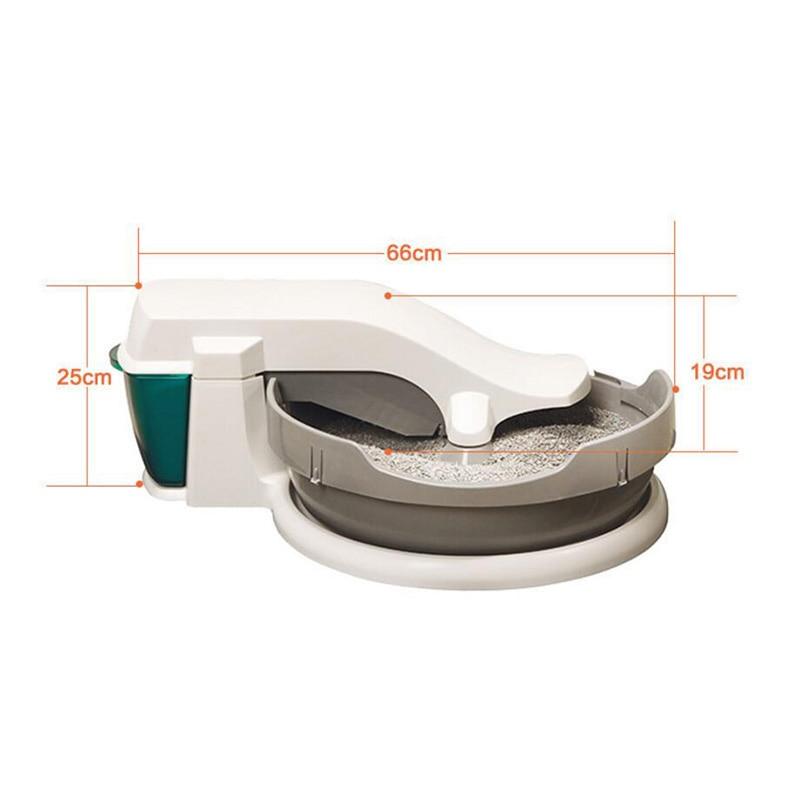 Électrique Chat Toilette Automatique De Nettoyage Chat Bouse Semi-fermé Splash Chat Litière En Plastique Pot Animal de Compagnie Litière Pour Chat boîte