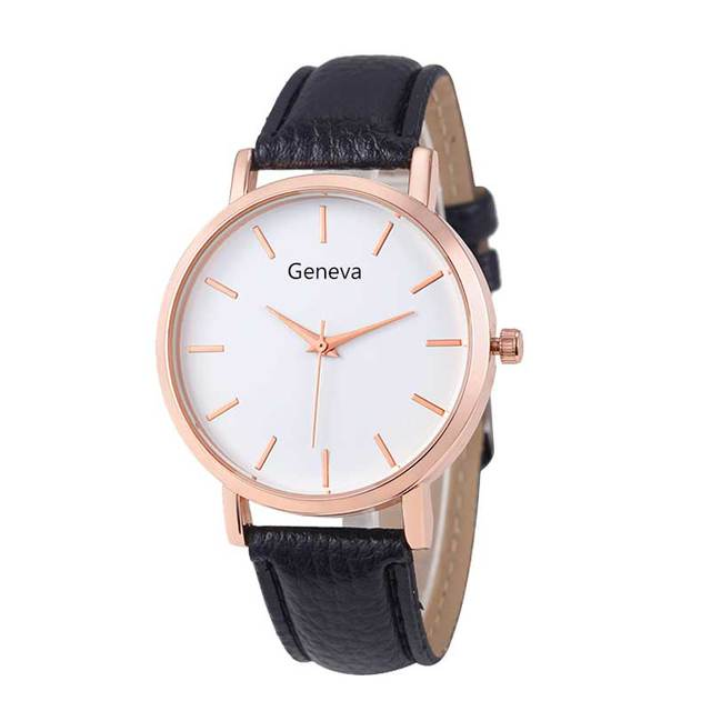 Fashion Woman Watches Reloj Mujer Leather Dress Ladies Woman's Geneva Watch Steel Analog Luxury WristWatch Clock