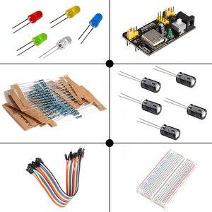 Image 5 - 10Set/Lot Eletronic Starter kit with Breadboard Cable Resistor, Capacitor, LED, Potentiometer for Arduino Mega Nano