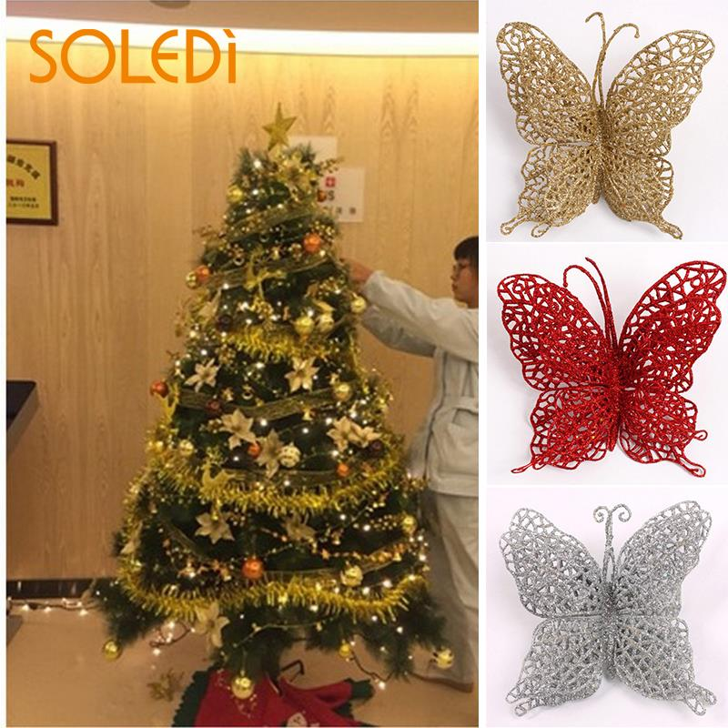 11X12.5cm Plastic Large Hollow Butterfly Christmas Hanging ...