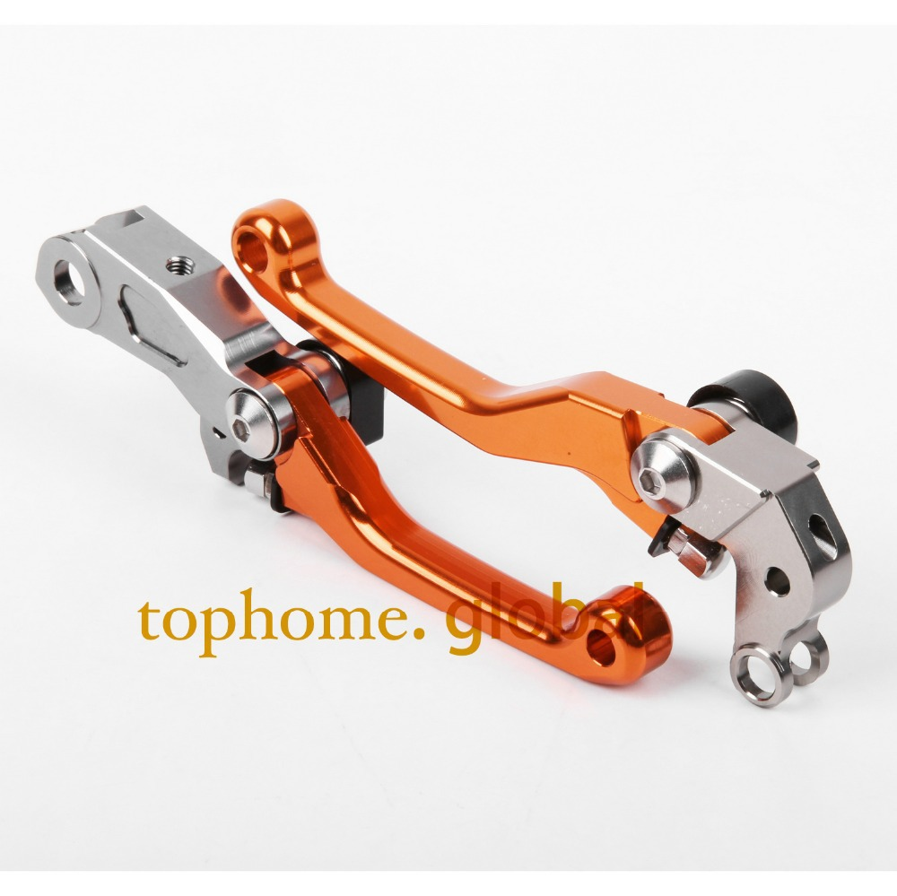 CNC Pivot Dritbike Brake Clutch Levers For KTM 450 SMR 2009 Orange Color off road pivot levers crf brakes good quality titanium motorcycle accessories increased torque of cnc pivot brake clutch levers for ktm 450 smr 2007 2008 2009