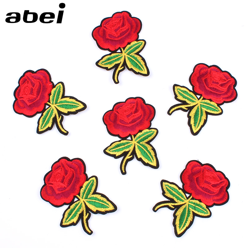 10pcs/lot Quality Iron on flower Stickers DIY Clothing Badge Sewing Garments appliques Jeans Coats Shoes Patch Clothes Patches