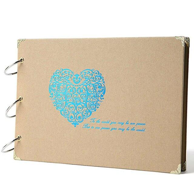 Scrapbook Silver Heart Printed Scrapbook Album With Scrapbooking