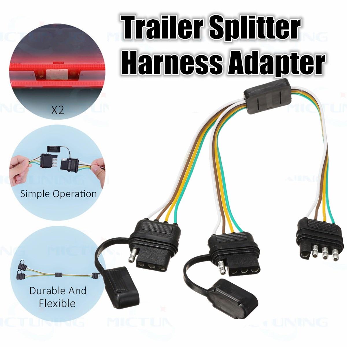 medium resolution of kroak 2 way 4 pin trailer splitter y split wiring harness adapter 7 pin trailer wiring